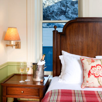 One of Telluride Hotels historic rooms renovated by Nina Campbell