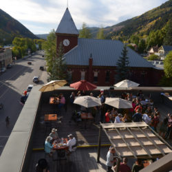 The Roof rooftop bar at the New Sheridan Hotel in Telluride