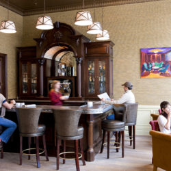 Parlor cafe at the New Sheridan Hotel for morning coffee and an extension of the Chop House Restaurant
