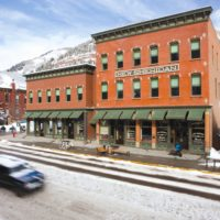 MEDIA - Exterior Winter New Sheridan Hotel and Chop House Restaurant Downtown Telluride